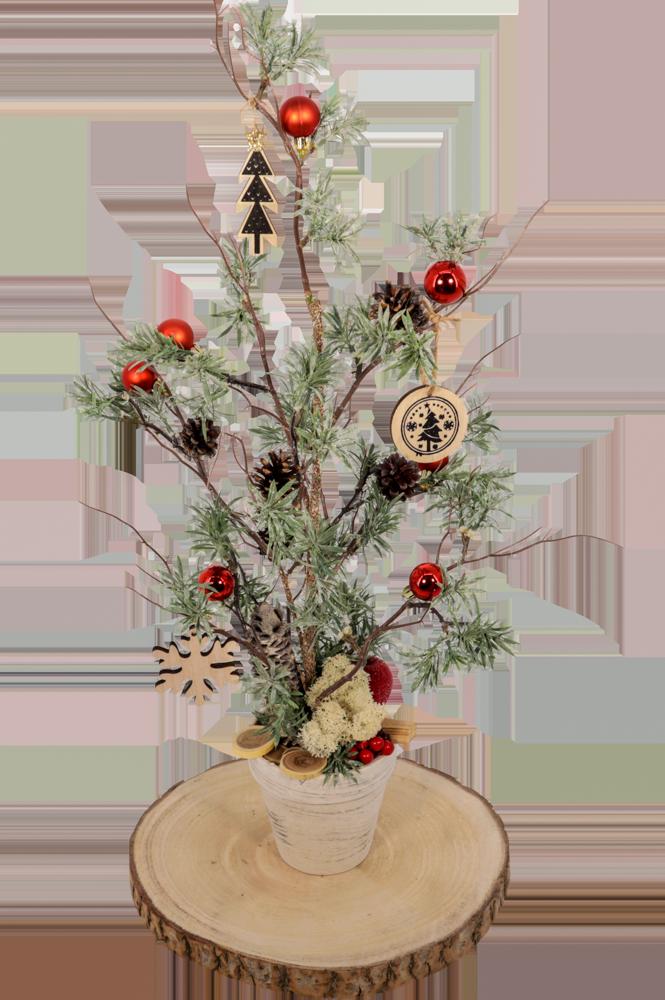 Kunstkerstboom compleet met versiering