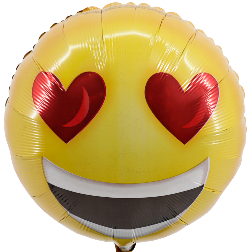 Smiley hartje ballon