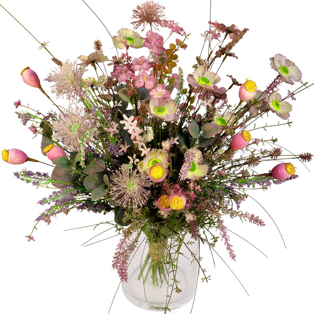 Veldboeket zijdebloemen paars - lila