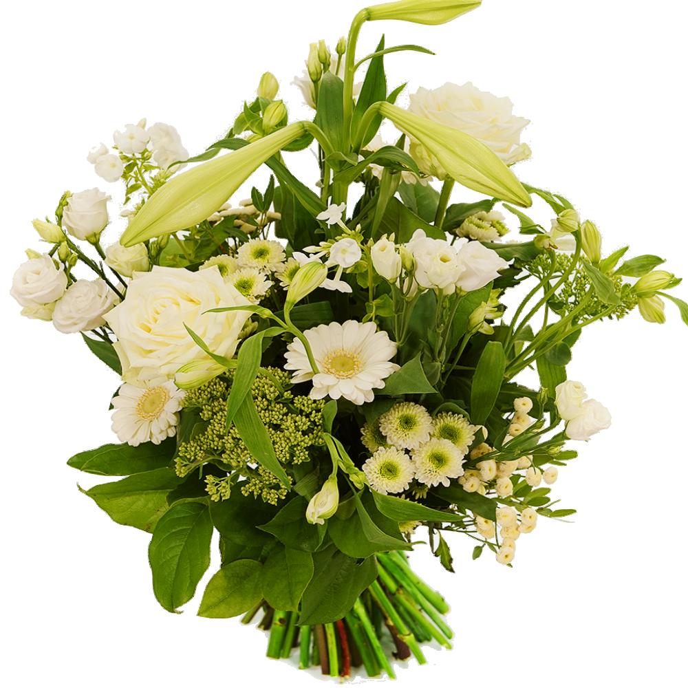 Speels boeket witte bloemen