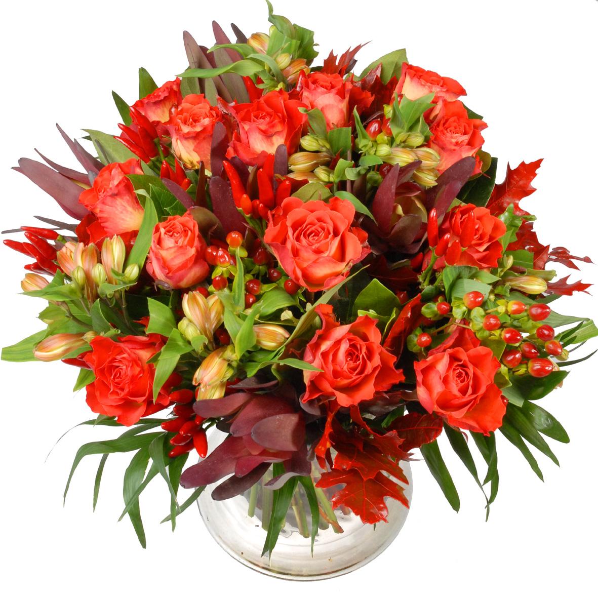 Oranje rozen bloemen boeket