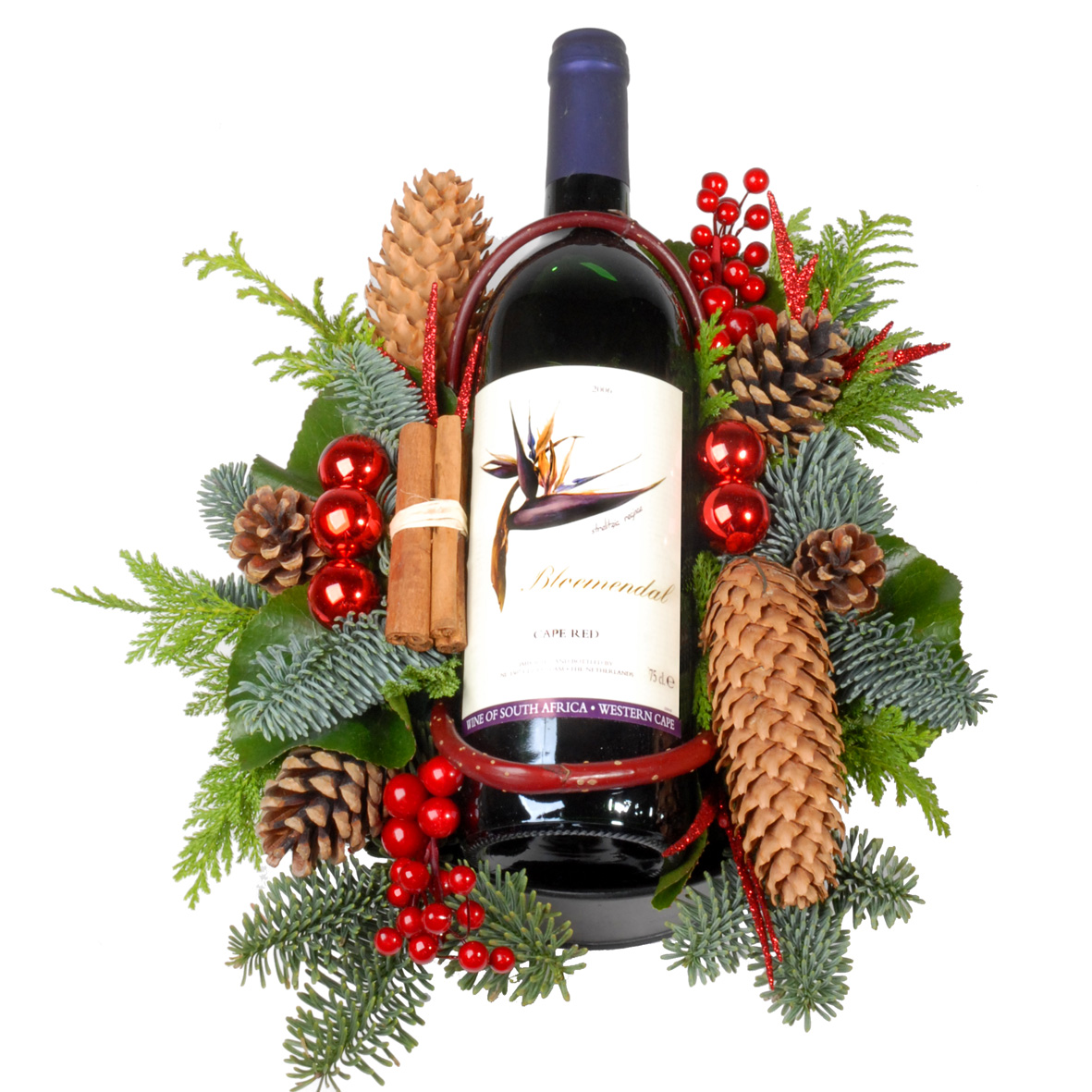 Wijn Kerststuk