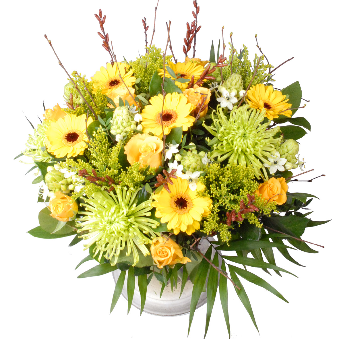 Vaderdag boeket bloemen geel groen