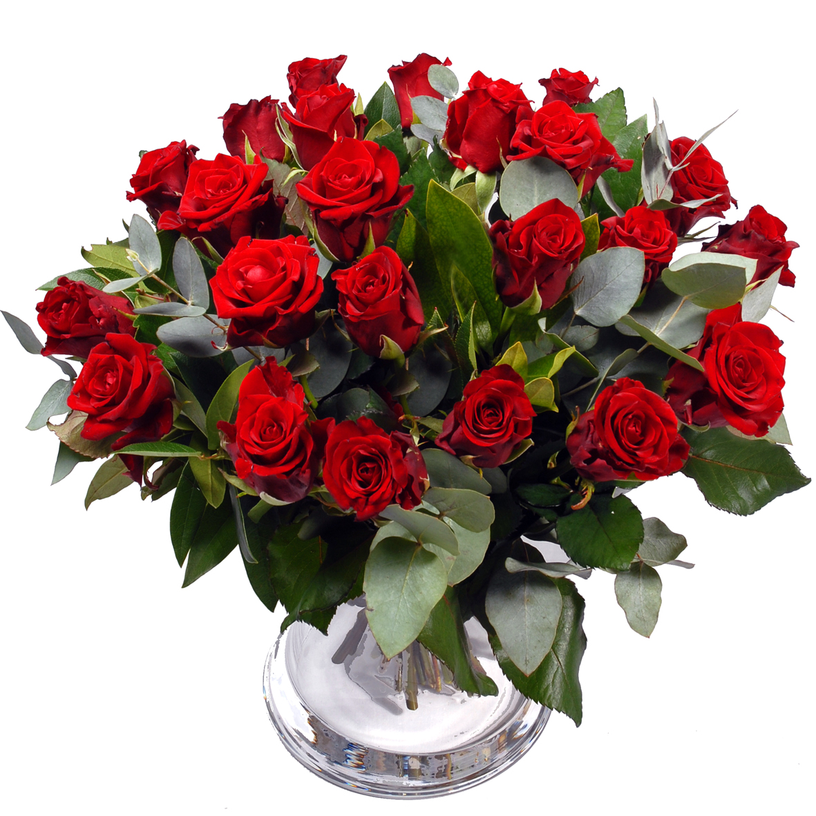 Boeket buitenland rode rozen