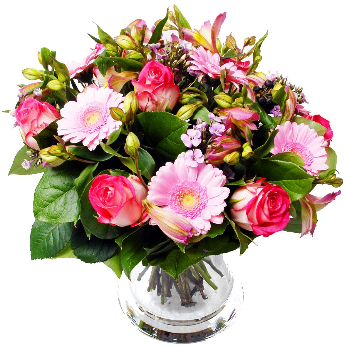 Roze boeket bloemen