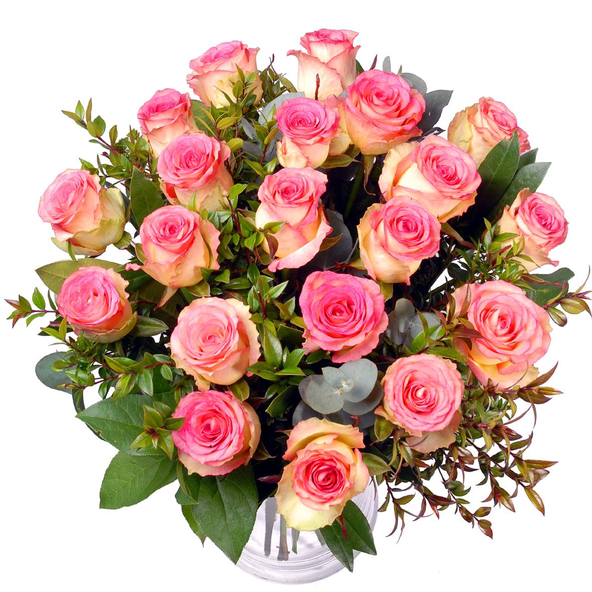 Valentijn roze rozen boeket !