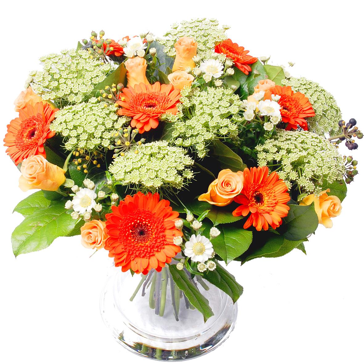 Planten Bloemen buitenland oranje wit